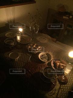自宅でのディナーの写真・画像素材[742921]