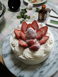 苺のショートケーキの写真・画像素材[744056]