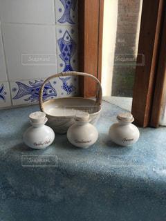 お洒落な陶器の写真・画像素材[744086]