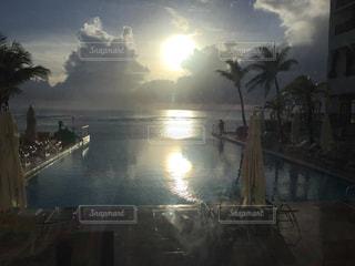 タモンビーチサンセットの写真・画像素材[521084]