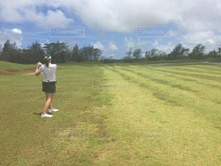 海外初ゴルフの写真・画像素材[521098]