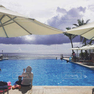 グアムのホテルプールの写真・画像素材[521111]