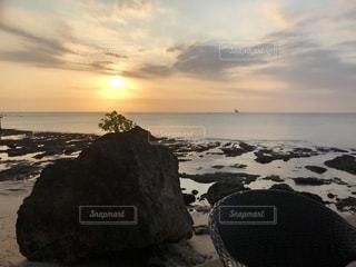 海辺の夕焼けの写真・画像素材[1412591]