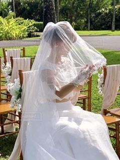 ウェディングドレスの写真・画像素材[3516832]