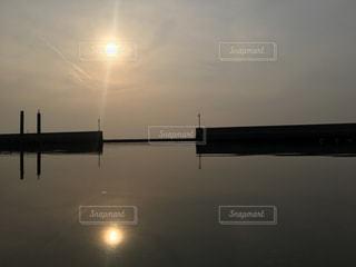 夕陽の写真・画像素材[392144]