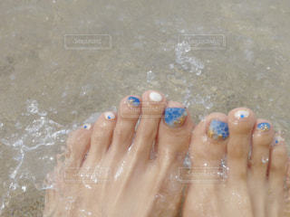 海と海ネイルの写真・画像素材[1234055]