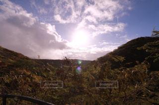 背景の山と木の写真・画像素材[1234348]