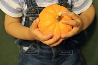 果物を持っている手の写真・画像素材[1491341]