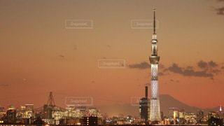 夜の街の景色の写真・画像素材[1504443]