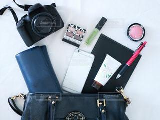 スーツケースの上に座って荷物のバッグの写真・画像素材[1608384]
