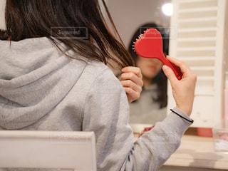 歯を磨く人の写真・画像素材[1808795]
