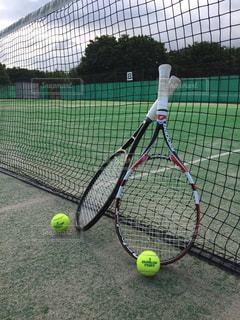 テニスコートの写真・画像素材[517671]