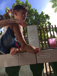 子供 フィリピン 男の子の写真・画像素材[530675]