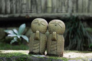 詩仙堂のかわいいお地蔵さんの写真・画像素材[1228422]
