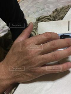携帯電話を持つ手の写真・画像素材[1037644]