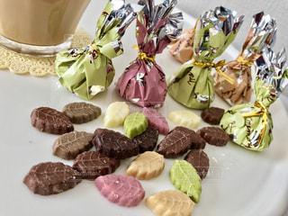 皿の上のチョコレート ケーキ - No.914594