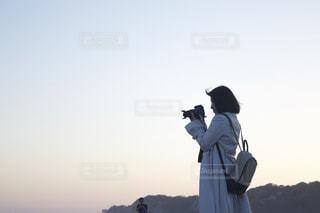 カメラ女子の写真・画像素材[533890]