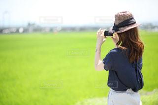 田園風景が綺麗で思わずパシャの写真・画像素材[1315288]