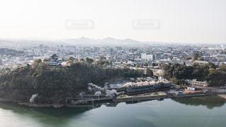 ドローンで撮影した犬山城の写真・画像素材[1320820]