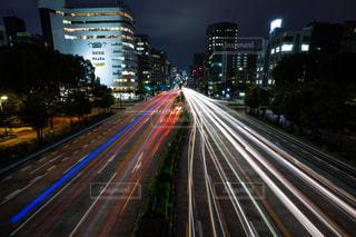 夜の街の景色の写真・画像素材[1337638]