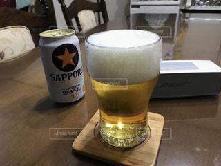#ビールで乾杯  #宅飲み  #男は黙って  #この一杯のために  #お酒と音楽の写真・画像素材[539189]