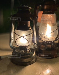 ランタンの火の写真・画像素材[2920638]