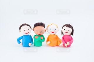 外国人とのコミュニケーション @手作り紙粘土人形の写真・画像素材[2720570]