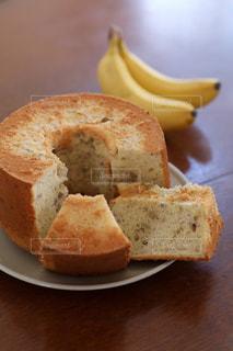手作りバナナシフォンケーキの写真・画像素材[2992991]