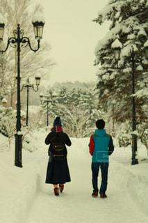 人々 のグループ クロスカントリー スキー雪の中での写真・画像素材[903589]