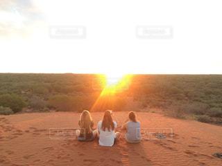 エアーズロックの夕日の写真・画像素材[1289200]