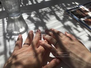 嫁とカフェにての写真・画像素材[702438]