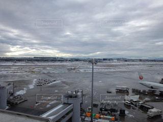 No.550729 #寒い#雪降って#飛行機