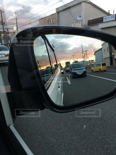 車のサイドミラー ビューの写真・画像素材[1617517]