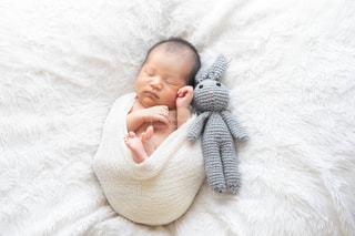 赤ん坊を持っている人の写真・画像素材[1390149]