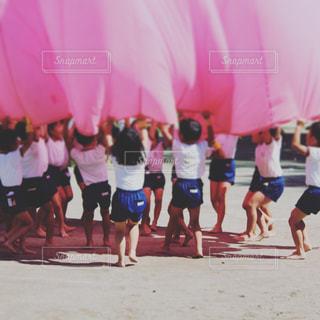 幼稚園の運動会の写真・画像素材[946293]