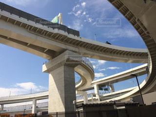 高架下から見た高速道路の写真・画像素材[1325287]