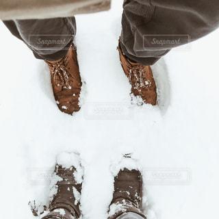 雪の上の人の写真・画像素材[1750322]