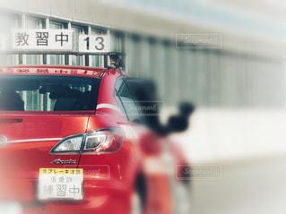 赤の教習車の写真・画像素材[1597071]