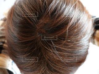白髪 頭 上からの写真・画像素材[1625299]