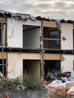 ハイツ アパート 解体 工事の写真・画像素材[1681413]