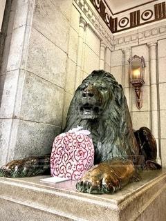 ライオン像の写真・画像素材[2650805]