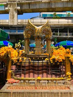 タイバンコク最強パワースポット エラワンの祠の写真・画像素材[2969338]