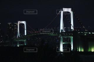 夜ライトアップ橋の写真・画像素材[818298]