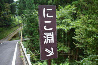 道の端にサインの写真・画像素材[769301]