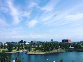 富山県立美術館からの環水公園の写真・画像素材[848594]