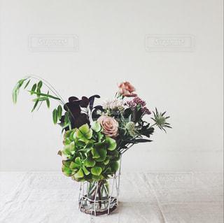 秋の草花 花あしらい フラワーアレンジメントの写真・画像素材[790717]