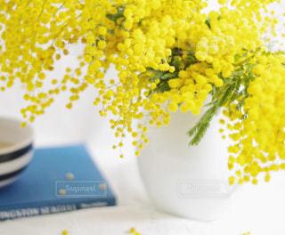 テーブルの上の花の花瓶の写真・画像素材[1806279]
