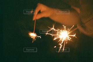 線香花火の写真・画像素材[742949]