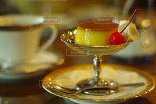 喫茶店の固めのプリンの写真・画像素材[3200963]