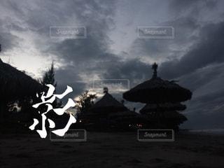 暮れかけのビーチの写真・画像素材[847220]
